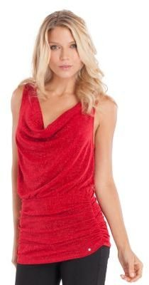 GUESS Shimmering Cowl Neck Tank Top