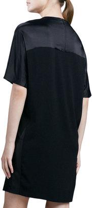 Vince Loose Texture-Block Dress