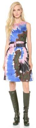 Rodarte Tie Dye Silk Belted Dress