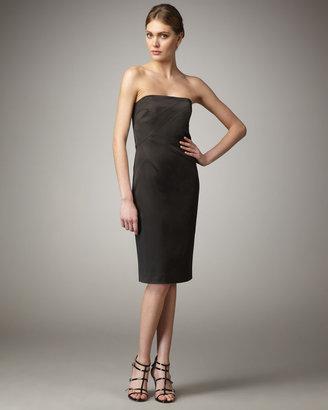 Michael Kors Stretch Satin Strapless Dress