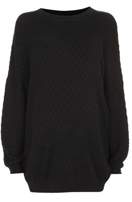 Topshop Maternity Viscose Quilted Sweat