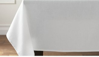 """Crate & Barrel Abode White 60""""x60"""" Tablecloth"""