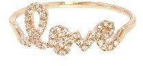 Sydney Evan Love Script Ring in Rose Gold with Diamonds