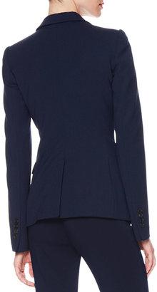 Armani Collezioni One-Button Stretch Suiting Jacket, Dark Navy