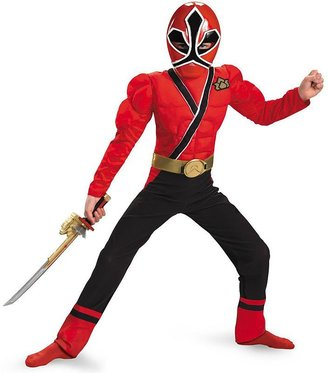 Power Rangers samurai red ranger muscle costume - kids