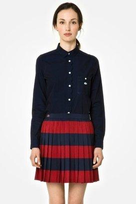 Lacoste L!VE Crepe Mini Pleated Striped Skirt
