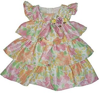 JCPenney Marmellata Tiered Floral Dress - Girls 3m-9m