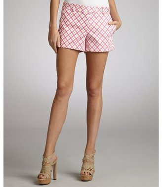 Julie Brown JB by pink and orange printed stretch cotton 'Buttercup' short