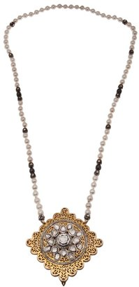Native Jewels Diamond and pearl necklace