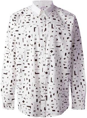 Soulland geometric print shirt