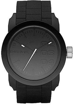 Diesel Black Matte Plastic and Silicone 3 Hand Bracelet Watch