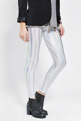 Sparkle & Fade Foil-Stripe Legging