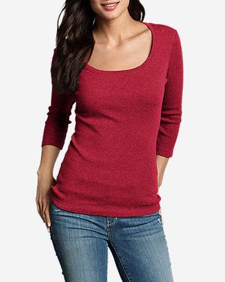Eddie Bauer Women's Favorite 3/4-Sleeve Scoop-Neck T-Shirt
