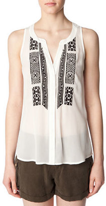 Sanctuary Geo Embroidered Blouse