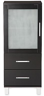 JCPenney Frosted Pane 2-Drawer Linen Cabinet