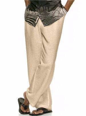 Cubavera Solid Linen-Blend Drawstring Pants $68 thestylecure.com