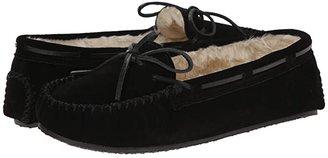 Minnetonka Cally Slipper (Black Suede) Women's Moccasin Shoes