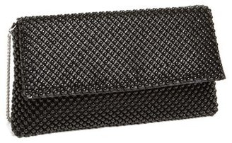 Nina Beaded Mesh Clutch - Black $55 thestylecure.com