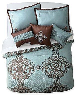 Raleigh 7-pc. Jacquard Comforter Set & Accessories