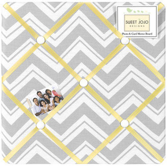 JoJo Designs Sweet Zig Zag Yellow and Gray Collection Memo Board