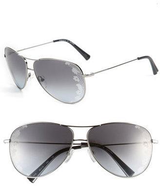 Valentino 60mm Aviator Sunglasses