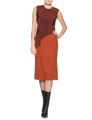 Narciso Rodriguez Bi Colour Origami Dress