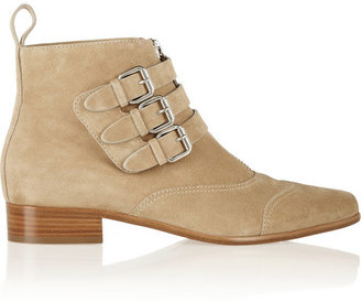 Tabitha Simmons Early buckled suede ankle boots