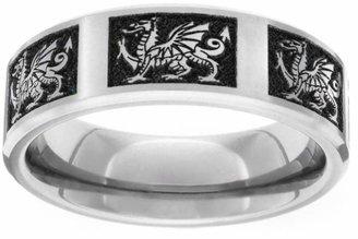 GETi Titanium Brushed Welsh Dragon 6mm Ring