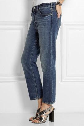 Acne Studios Pop Vintage Blue cropped boyfriend jeans