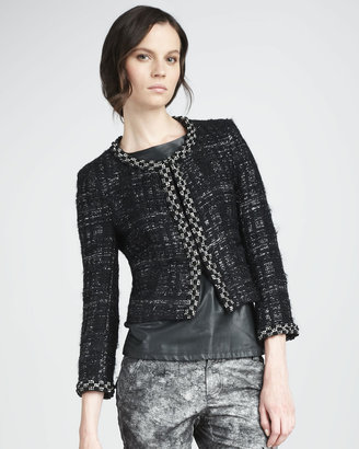Alice + Olivia Lucca Tweed Jacket