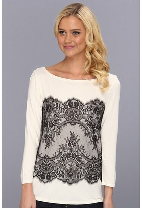 Juicy Couture Lace Ada Top (Angel) - Apparel