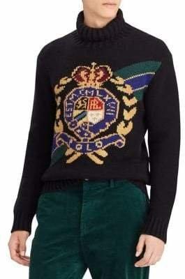 Polo Ralph Lauren Crest Turtleneck Wool Sweater