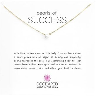 Dogeared Pearls Of Success Necklace 16 (Gold) Necklace