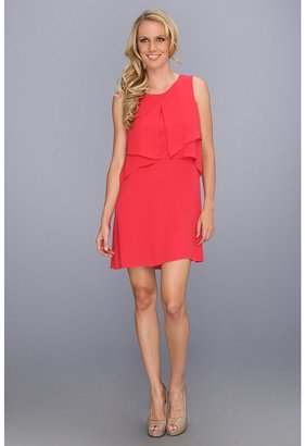 BCBGMAXAZRIA Amelie Sleeveless Draped Dress (Poppy) - Apparel