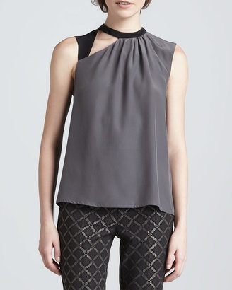 Nanette Lepore Spice Two-Tone Cutout Top