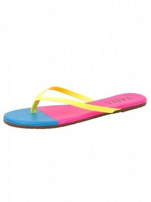 TKEES Neon French Tips Flip Flops