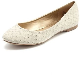 Charlotte Russe Eyelet Lace Ballet Flat