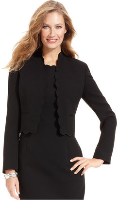 Kasper Petite Jacket, Scalloped-Edge Cropped