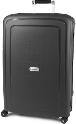 Samsonite Grey Scure Four-Wheel Spinner Suitcase, Size: 75cm