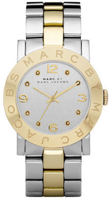 MARC by Marc Jacobs Amy Two-Tone Watch, Stainless Steel/Yellow Golden $200 thestylecure.com
