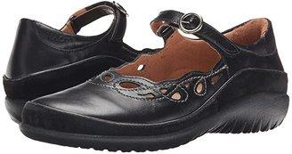 Naot Footwear Rahina (Black Madras Leather/Black Suede) Women's Maryjane Shoes