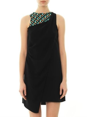 Vanessa Bruno Geometric-print insert crepe dress