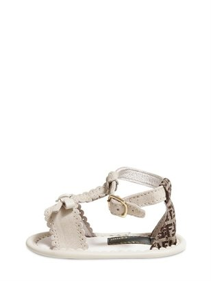Fendi Newborn Nubuk Sandals