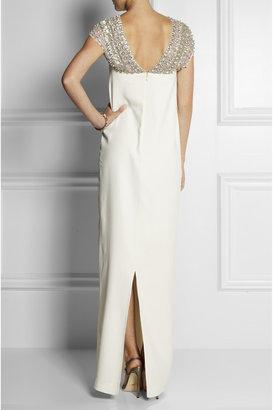 Temperley London Crystal-embellished crepe column gown