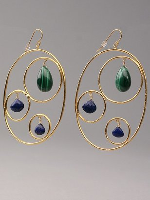 Alexis Bittar Circles with Malachite and Lapis