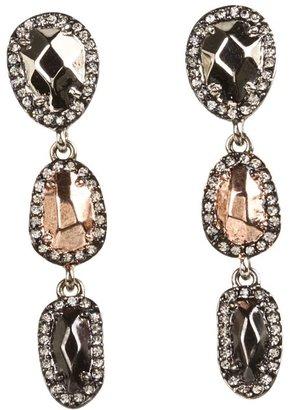 House Of Harlow Rif Pebble Drop Earrings (Tri Tone) - Jewelry