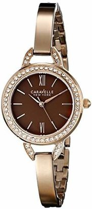 Caravelle New York Women's 44L134 Stainless Steel Crystal-Accented Watch $120 thestylecure.com