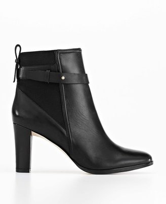 Ann Taylor Flora Buckle Leather Booties
