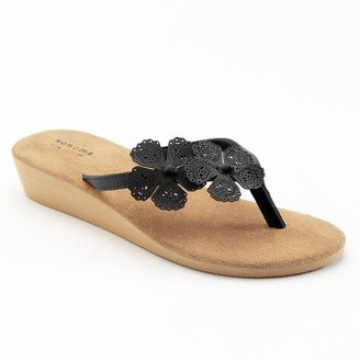 Sonoma life + style ® cutout floral wedge flip-flops