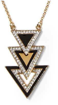 Juicy Couture Triple Triangle Pendant Necklace